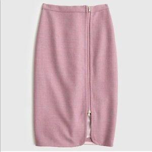 J.crew wool 100% side zipper pencil skirt